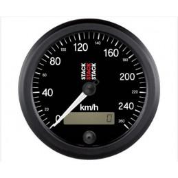 Compteur de vitesse STACK 260km/h Ø 88mm avec écran LCD