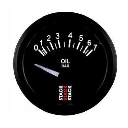 Manomètre STACK électrique pression huile 0-7 bars noir