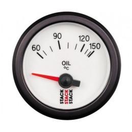 Manomètre STACK électrique température huile 60-150°C blanc