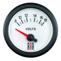 Voltmètre STACK électrique 8-18V blanc