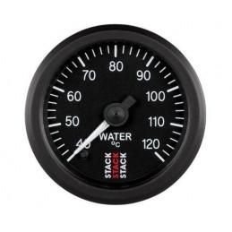 Manomètre STACK analogique pro température eau 40-120°C noir