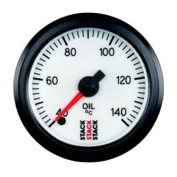 Manomètre STACK analogique pro température huile 40-140°C blanc