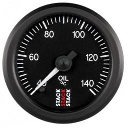 Manomètre STACK analogique pro température huile 40-140°C noir
