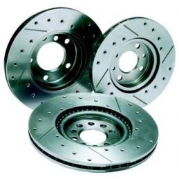 Disques de frein REDSPEC Rainurés percés pour CITROEN Saxo ou PEUGEOT 106 206 306 247x 8 mm arrière