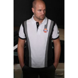 Polo GULF Sport Racing blanc pour homme