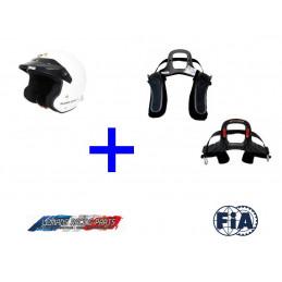 Pack Casque FIA Jet-RS TURN ONE + Hans FIA