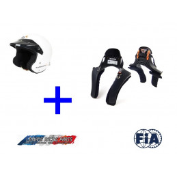 Pack Casque FIA Jet TURN ONE + Système HANS FIA STAND21