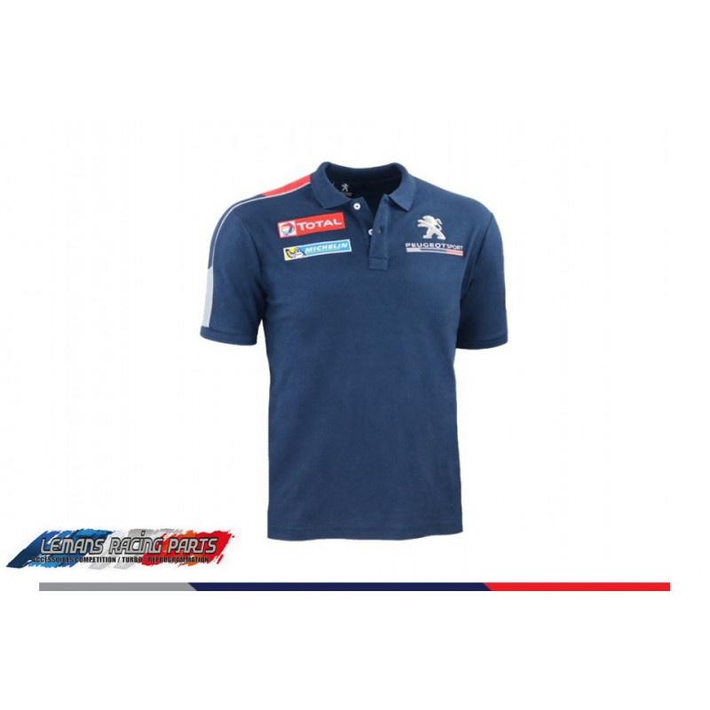 Polo peugeot sport REPLICA Bleu Foncé Homme