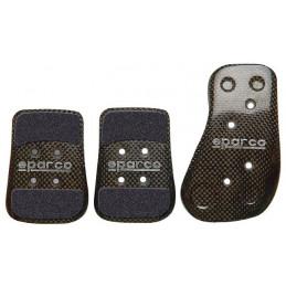 Kit 3 pédales SPARCO Carbone