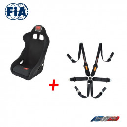 Pack Baquet FIA OMP SPORT Rac + Harnais Turn one FIA