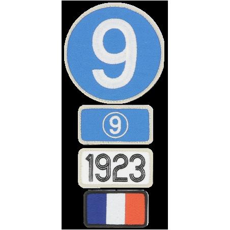 Pochette de 4 patchs brodés 1923 - 24H Le Mans