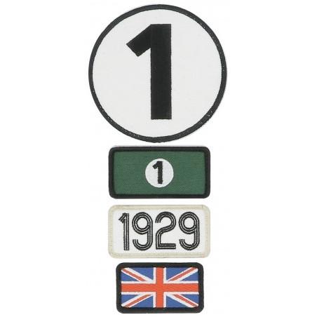 Pochette de 4 patchs brodés 1929 - 24H Le Mans
