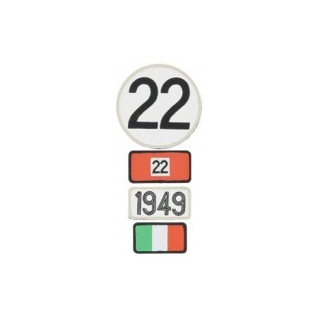 Pochette de 4 patchs brodés 1949 - 24H Le Mans