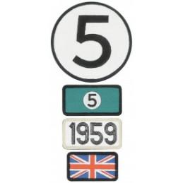 Pochette de 4 patchs brodés 1959 - 24H Le Mans
