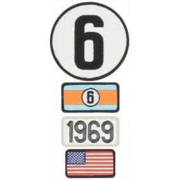 Pochette de 4 patchs brodés 1969 - 24H Le Mans