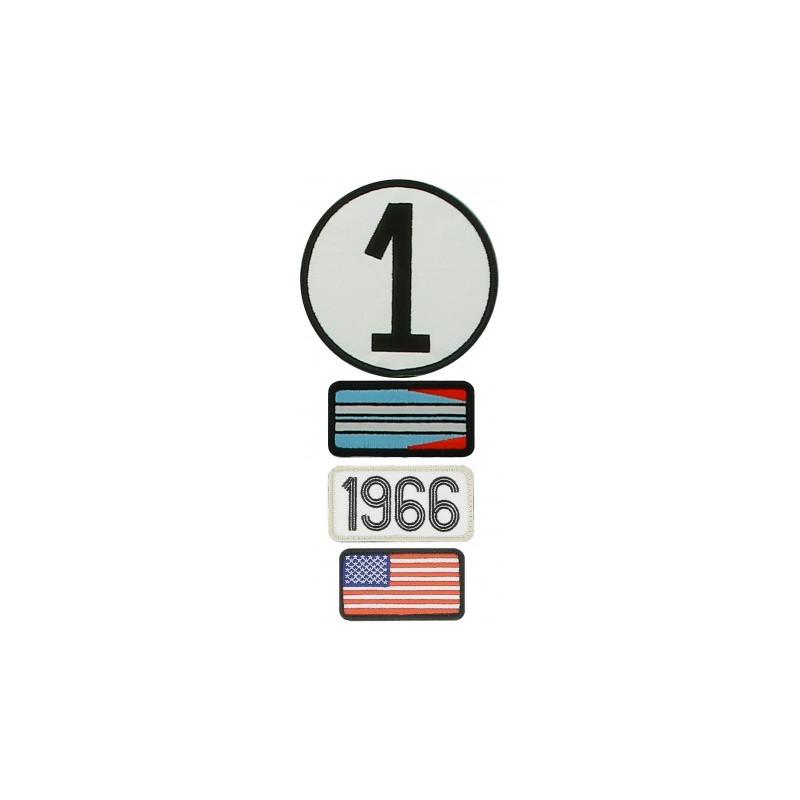 Pochette de 4 patchs brodés 1966 - 24H Le Mans