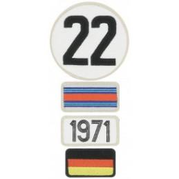 Pochette de 4 patchs brodés 1971 - 24H Le Mans