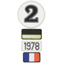Pochette de 4 patchs brodés 1978 - 24H Le Mans