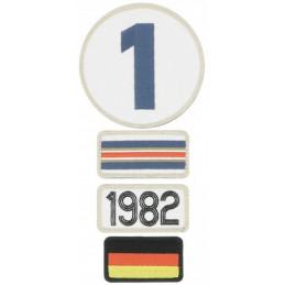 Pochette de 4 patchs brodés 1982 - 24H Le Mans
