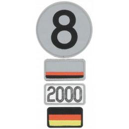 Pochette de 4 patchs brodés 2000 - 24H Le Mans