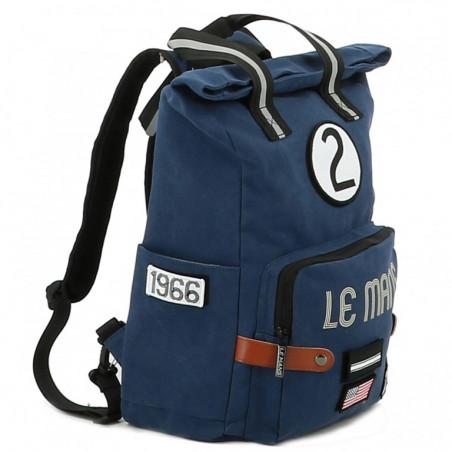 Grand sac à dos 24H Le Mans - coton bleu