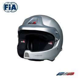 Casque FIA Stilo Jet WRC DES Rally Composite Gris