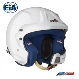 Casque FIA Stilo Jet WRC DES Rally Composite Blanc