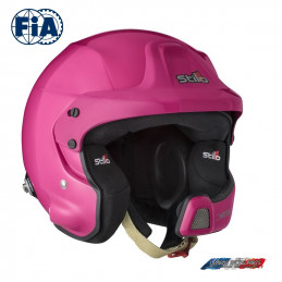 Casque FIA Stilo Jet WRC DES Rally Composite Rose