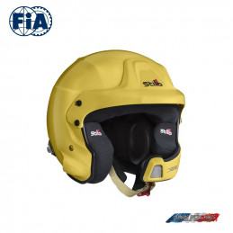 Casque FIA Stilo Jet WRC DES Rally Composite Jaune