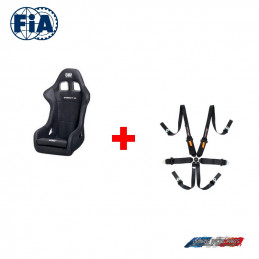 Pack Baquet FIA OMP First-R  + Harnais FIA