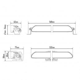 Rampe à LED LAZER LAMPS Linear 18 Elite - 36 LEDs / 126 Watts