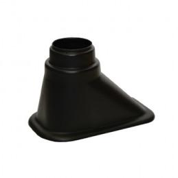Ecope de refroidissement simple sortie décalée noire REVOTEC 63/76 mm - 180 x 100 x 110 mm