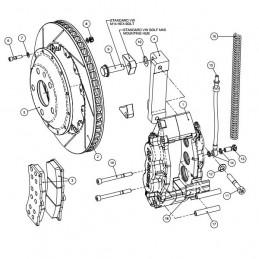 Kit gros frein AP RACING pour VOLKSWAGEN Golf V 2.0 GTi 6 pistons 330x28 avant rouge