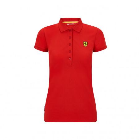 Polo FERRARI Classic rouge pour femme