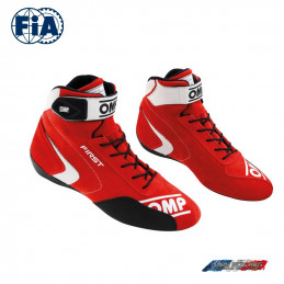 Bottines FIA OMP First  rouge