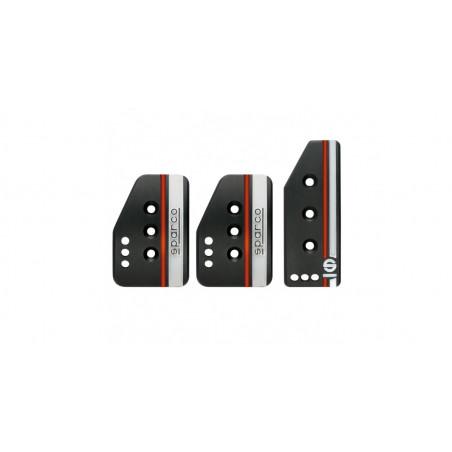 Kit de 3 pédales Sparco Settanta couleur noires