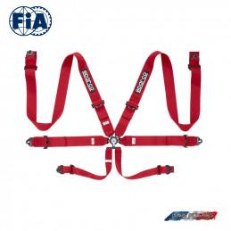 Harnais FIA SPARCO 04818RAC rouge