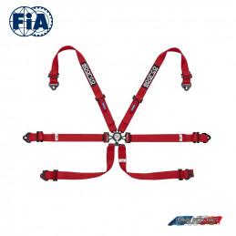 Harnais FIA SPARCO 04796F rouge
