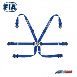 Harnais FIA SPARCO 04796F bleu