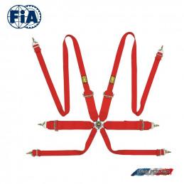 Harnais FIA OMP 0204 EH rouge