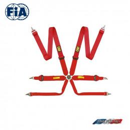 Harnais FIA OMP Tecnica  rouge