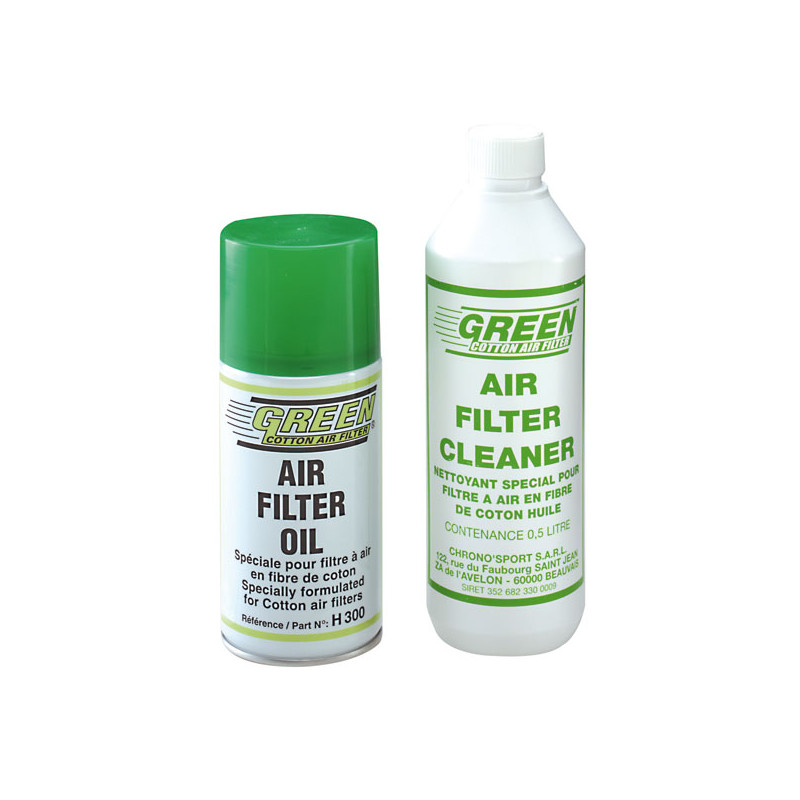 Kit nettoyage Filtre à air Green