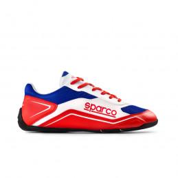 Chaussures SPARCO S-Pole rouge et bleu pour homme