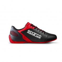 Chaussures en cuir SPARCO SL-17 rouge/noir