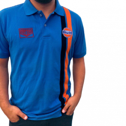 Polo GULF Racing cobalt pour homme