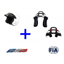 Pack Casque Jet-RS TURN ONE + Hans FIA