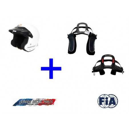 Pack Casque FIA Jet TURN ONE + Système HANS® STAND21 Club Series 3