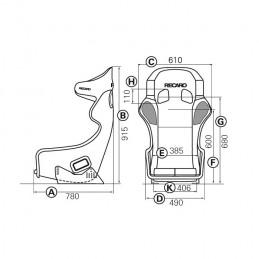 Baquet FIA RECARO Pro Racer SPA Carbon-Kevlar XL