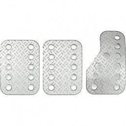 Kit 3 pédales SPARCO Aluminium grains de riz